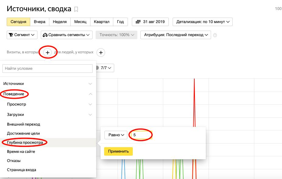 Создание сегментов в Яндекс Метрике